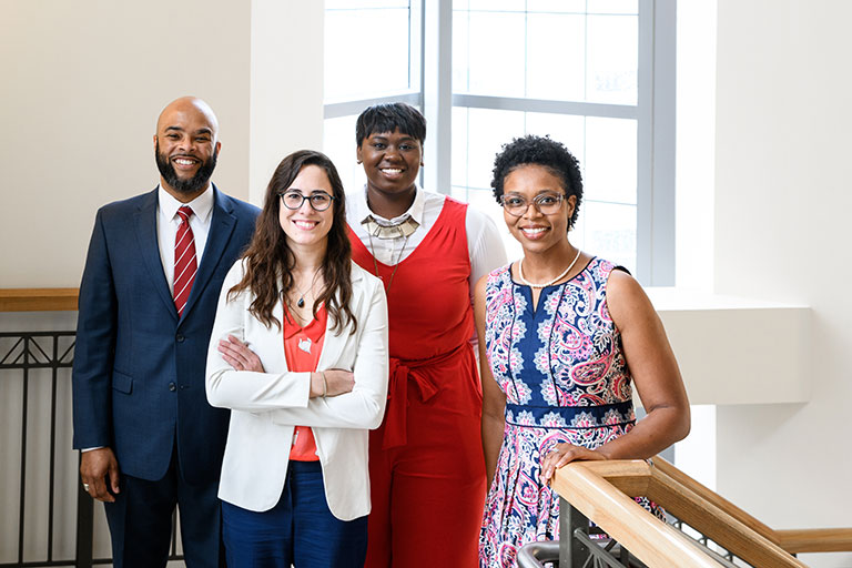 Office of Diversity staff: Carmund White, Jamie Gathing, Maqube Reese, Stephanie Frame